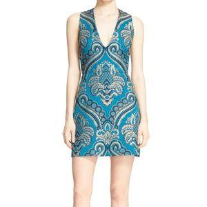 Alice + Olivia Size 2 Natalee Turquoise Dress